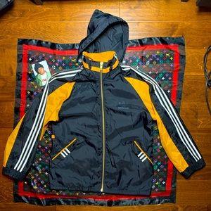 ★ Vintage Adidas Hoodie Jacket Insane Metal Zipper